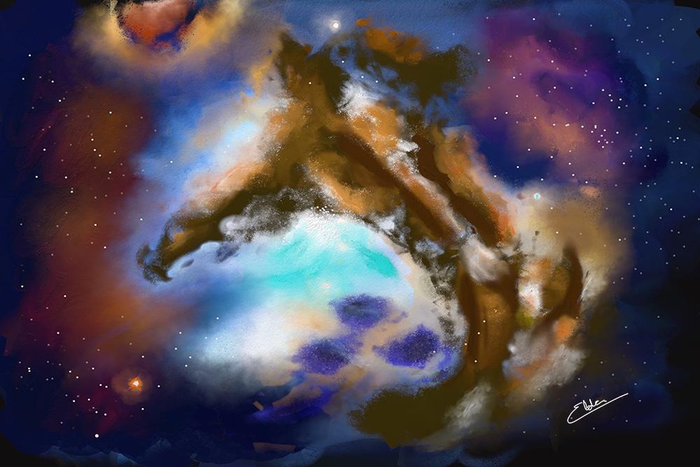 Flutuar entre estrelas