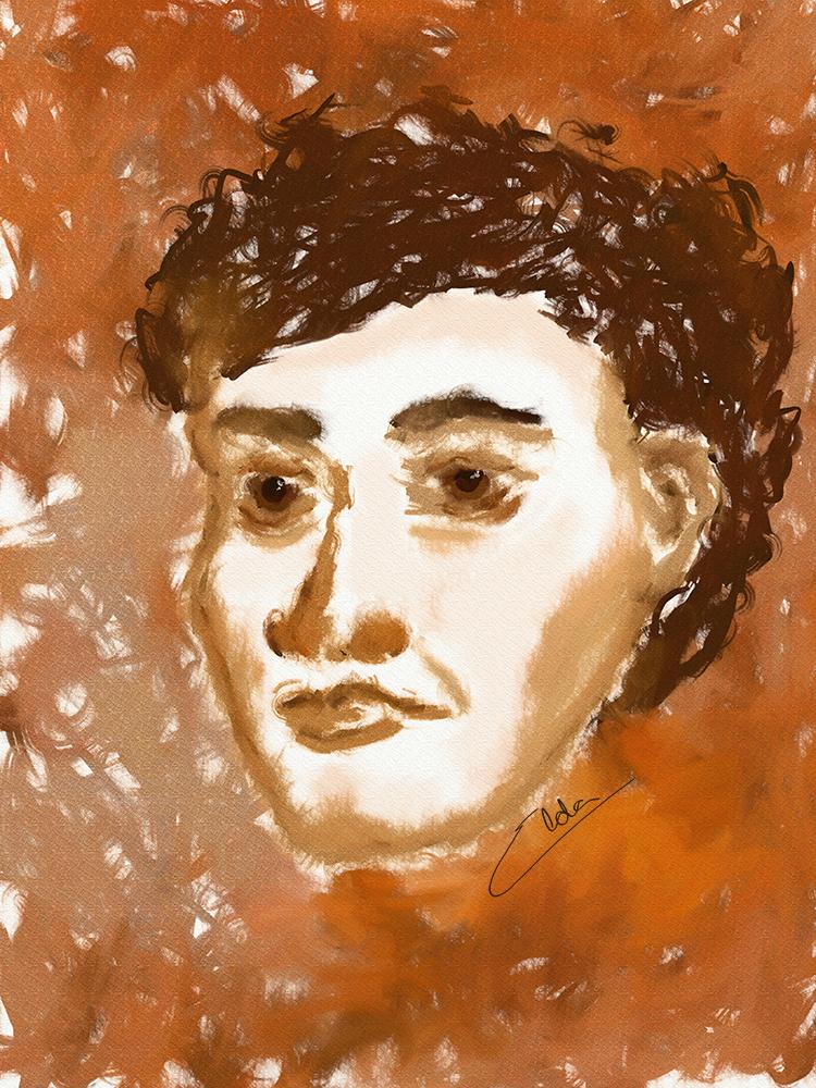 Homem em sépia