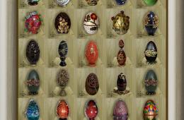 Coleção de Ovos decorados