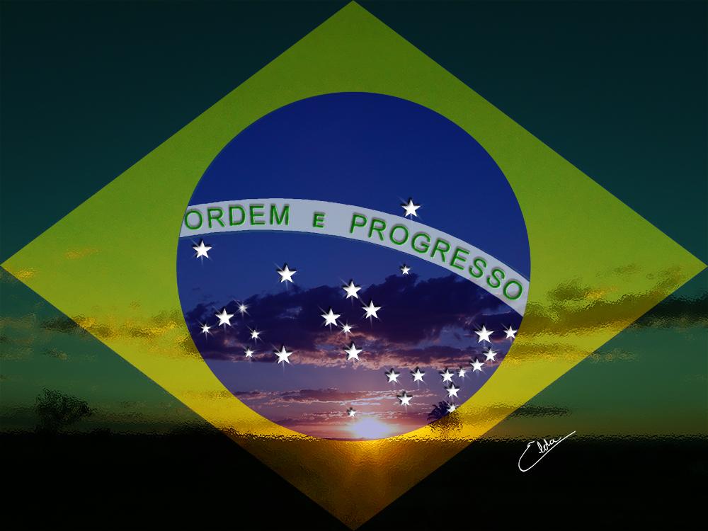 Brasília verde, amarela, azul anil