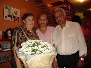 Recebendo flores-Cachepo
